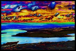 Leinwandbild, nicht von dieser Welt, Motiv: 9075, in einem Rahmen mit Schattenfuge