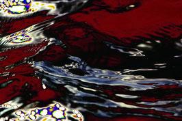 Leinwandbild, Motiv: alles in Fluss 2782, auf einen Trägerrahmen gespannt
