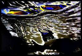 Leinwandbild, Motiv: alles in Fluss 2803, in einem Rahmen mit Schattenfuge