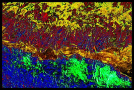 Leinwandbild zersplittert 1022c in einem Massivholzrahmen