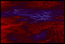 Leinwandbild, Motiv: alles in Fluss 2789, in einem Rahmen mit Schattenfuge