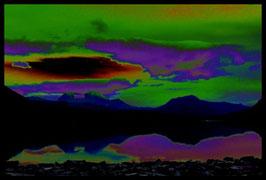 Leinwandbild, nicht von dieser Welt, Motiv: 2268, in einem Rahmen mit Schattenfuge