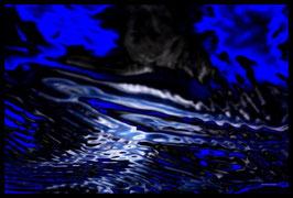Leinwandbild, Motiv: alles in Fluss 2792, in einem Rahmen mit Schattenfuge