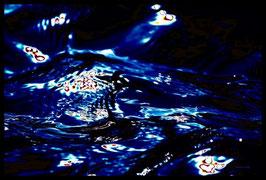Leinwandbild, Motiv: alles in Fluss 2774, in einem Rahmen mit Schattenfuge
