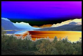Leinwandbild, nicht von dieser Welt, Motiv: 2954, in einem Rahmen mit Schattenfuge