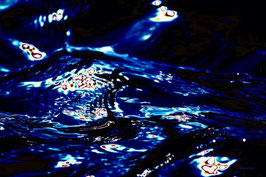 Leinwandbild, Motiv: alles in Fluss 2774, auf einen Holzträgerrahmen gespannt