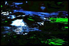 Leinwandbild, Motiv: alles in Fluss 2775, in einem Rahmen mit Schattenfuge
