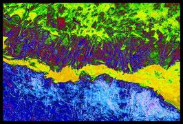 Leinwandbild zersplittert 1022a in einem Massivholzrahmen