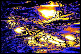 Leinwandbild, fremde Galaxien, Motiv: 2925 in einem Massivholzrahmen