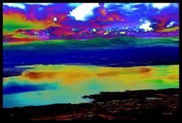 Leinwandbild, nicht von dieser Welt, Motiv: 9041, in einem Rahmen mit Schattenfuge
