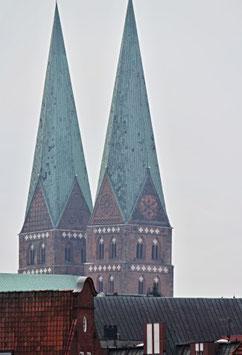 St. Marien, Motiv: 0323, auf einen Trägerrahmen gespannt