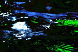 Leinwandbild; Motiv: alles in Fluss 2775, auf einen Trägerrahmen gespannt