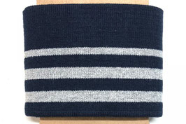 STRIPE NAVY BRILLANT ARGENT