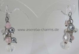 Ohrhänger Bergkristall-Rosenquarz