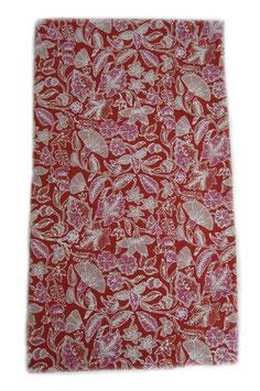 Orange and Pink Floral Batik