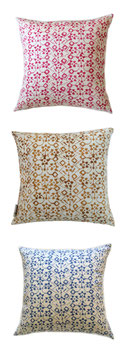 Radiant Veil Batik Pillow
