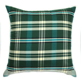 Green Plaid Sampin Pillow or Set