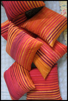 Stripe Batik - Red/Orange/Yellow