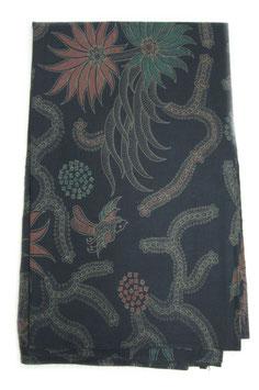 Birds and Flowers Black Batik
