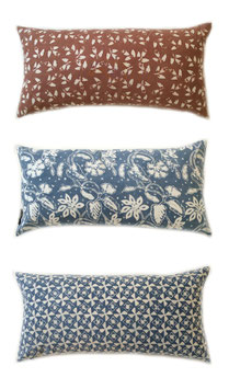 Natural Dye Lumbar Pillows