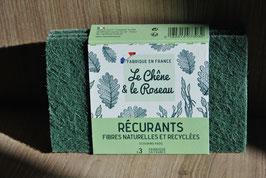 Pack 3 récurants en fibres naturelles et recyclées