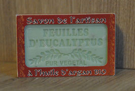 Savon de toilette : feuilles d'eucalyptus enrichi à l'huile d'argan BIO - 120g