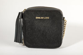 CROSS BODY BAG - Black Hair On