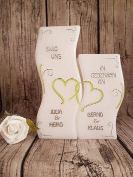 Hochzeitskerze mit Gedenkkerze