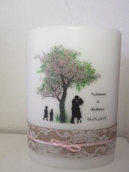Hochzeitskerze Elypse Liebesbaum
