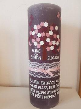 Rustikkerze Blütenbaum