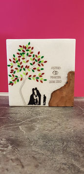 Hochzeitskerze Harmony Holz Lebensbaum