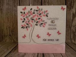 Kerze Harmony Lebensbaum mit Schmetterlinge