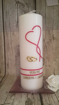 Hochzeitskerze Herz