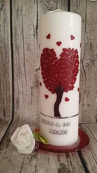 Hochzeitskerze Liebesbaum