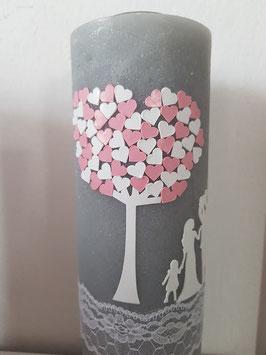 Hochzeitsrustikkerze Liebesbaum