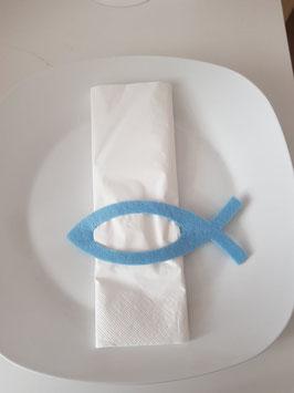 Serviettenhalter Fisch Blau