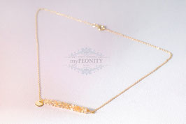 Gelbe Citrin Reihe - Edelstein Halskette