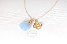 Keltischer Knoten - Jade, Halskette