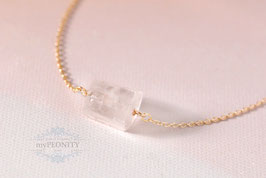 Zylinder - Bergkristall Anhänger, Halskette