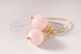 Pastell Rosa  - Muschelkern Perlen Ohrringe