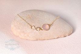 Unendlicher Sommer - Rosa Chalzedon, Halskette