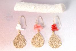 Sommerliche - Korallen Ohrringe