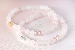 Zartrosa Armband - Rosenquarz, Kristall