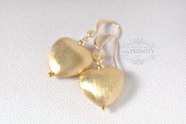 Herzen - vergoldetet Ohrringe