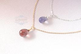 Quarztropfen - verschieden Farben, Halskette