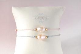 Pearl - vergoldetes Silber, Freundschaftsband