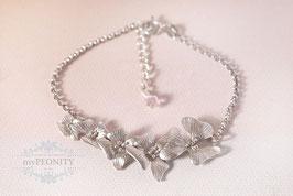 Blüten Ranke -  romantisches Silber Armband
