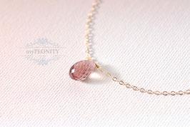 Pink Turmalin - Tropfen, Gold filled Halskette AUSVERKAUFT