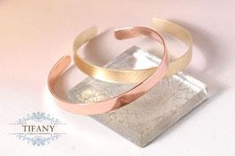 breiter Armreifen - Cuff in Kupfer und Messing