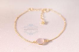 Rosa Chalzedon - Armband Sterlingsilber vergoldet